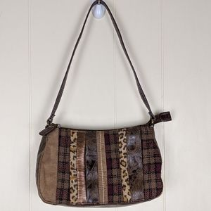 Relic Brown Embossed Leopard Print Purse